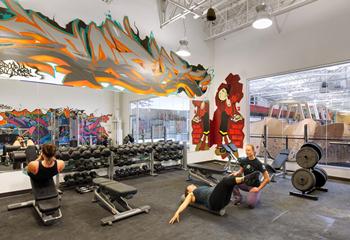 健身房墙绘壁画