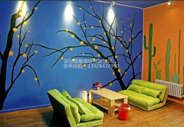 深圳青年旅社公共区墙绘