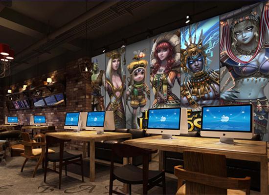 深圳宝安网吧主题创意墙绘