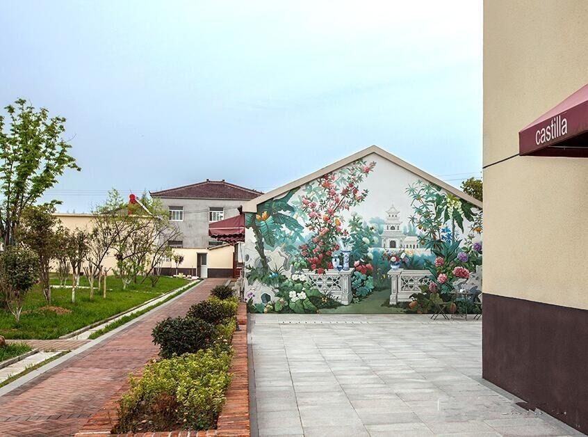 厂房外墙彩绘-繁花似锦