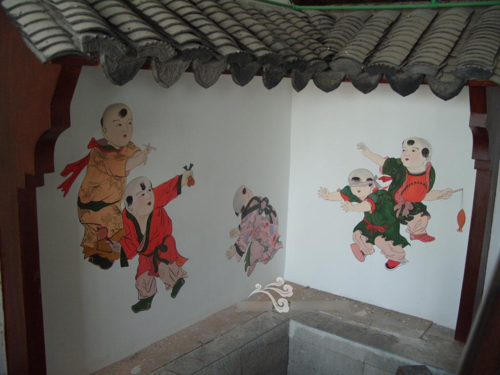 百姓人家饭店墙绘