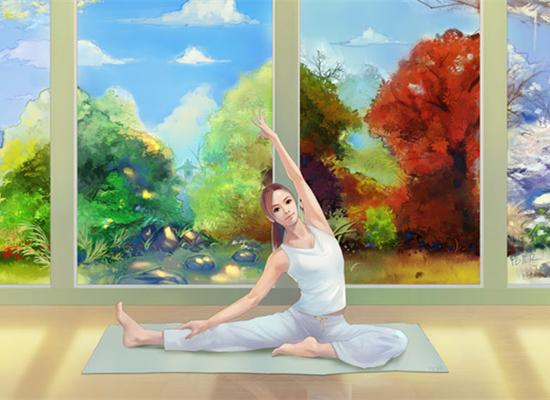 深圳南山瑜伽会所墙体彩绘