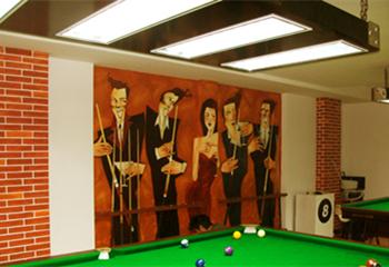 桌球室墙体彩绘