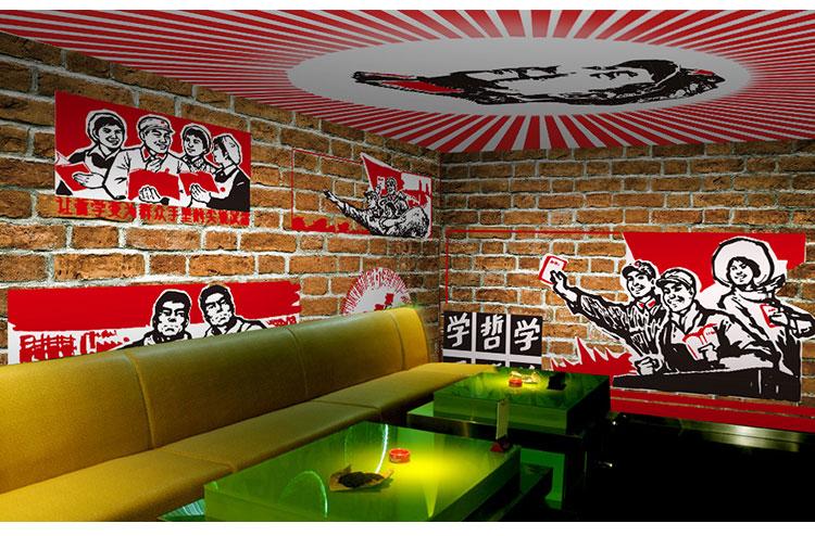 主题餐厅墙绘-红色革命
