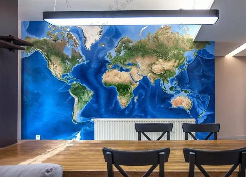 墙绘案例-家装墙体彩绘-蔚蓝星球【深圳帷幕墙绘】